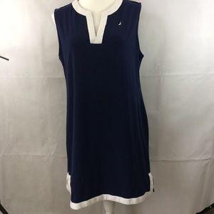 NAUTICA Size XL Split-Neck Sheath Dress
